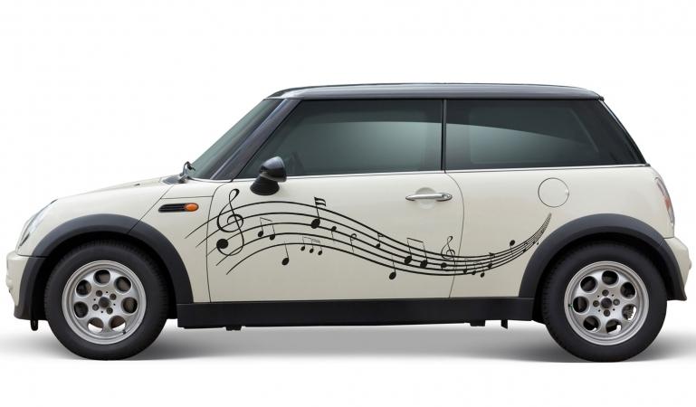 Musiknoten Autoaufkleber