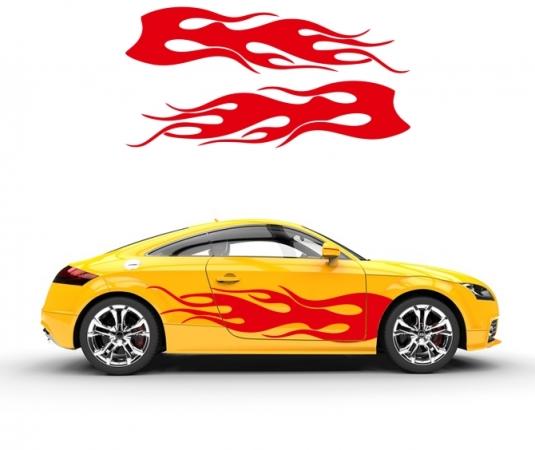 Flamme Autoaufkleber
