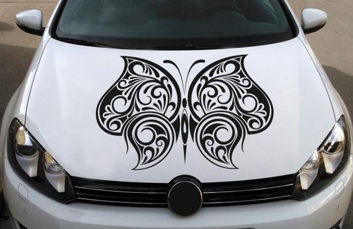 Motoraufkleber Schmetterling