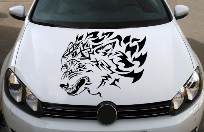 Wolf Autottattoo