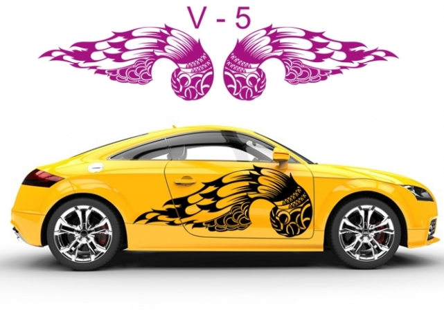 Engelsflügel Autoaufkleber