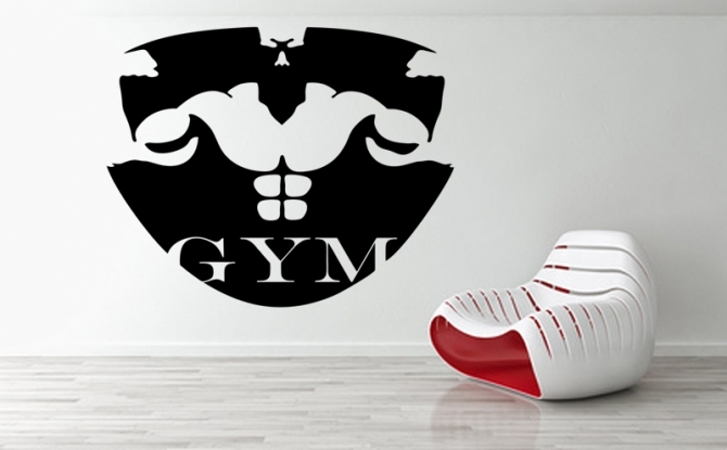 Fitness, Boxen, GYM Wandaufkleber