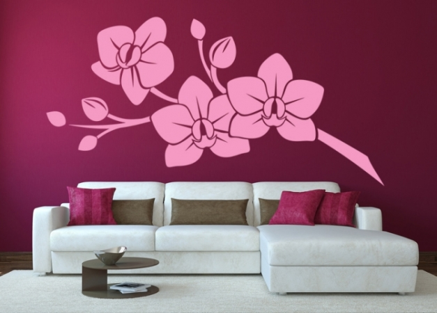 Wandatattoo Orchidee