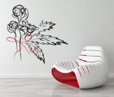 Blumen Art Wandaufkleber