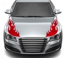 Feuer Motorhaube Autoaufkleber