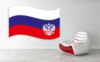 Russische Fahne Aufkleber
