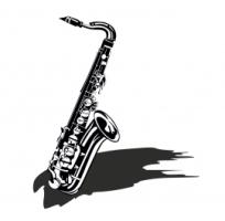 Saxophon Wandtattoo