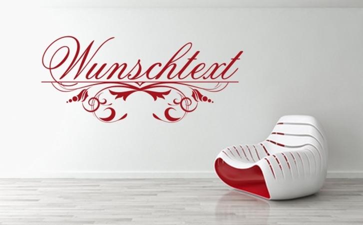 Wunschtext Wandaufkleber